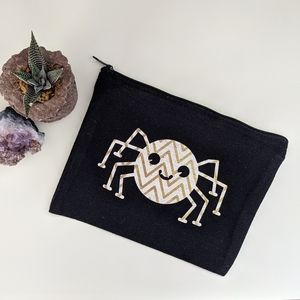 Halloween canvas cosmetic bag - Medium Spider